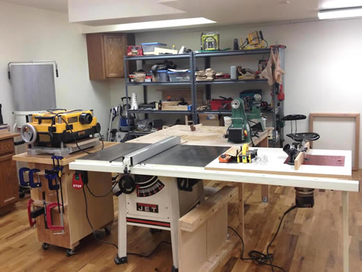 set up home garage workshop how to